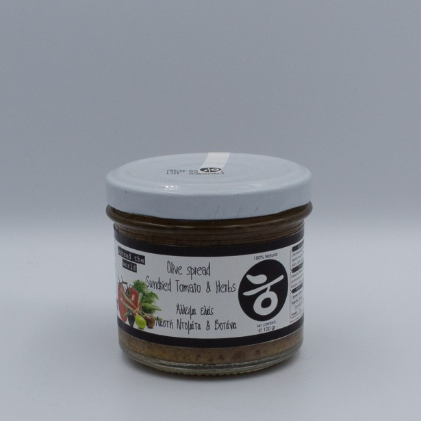 Olive Pate with Sundried Tomatoes and Herbs 100gr